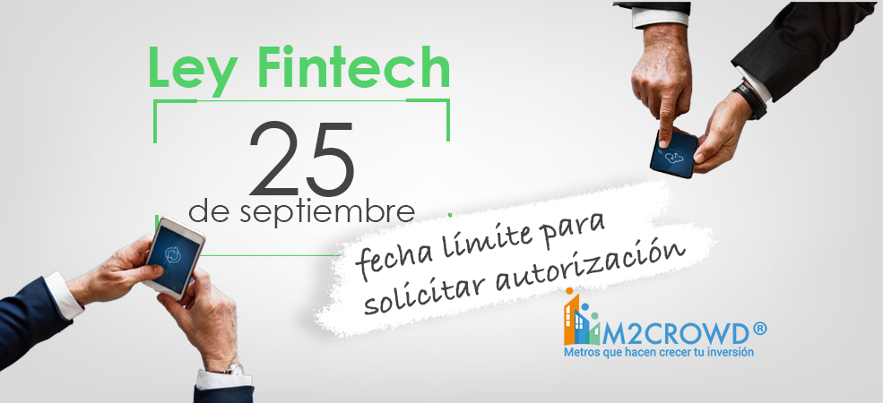 Ley Fintech: 25 de septiembre, límite para solicitar autorización