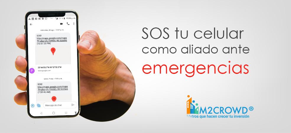SOS, tu celular como aliado en casos de emergencia